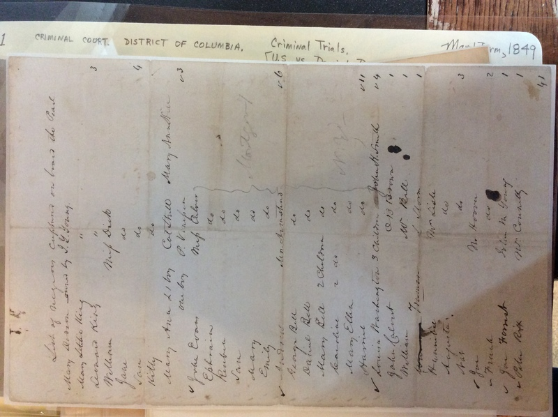 """""""List of negroes captured aboard the Pearl"""""""